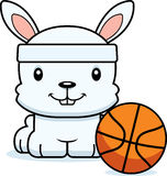 Cartoon Smiling Basketball Player Bunny Royalty Free Stock Images