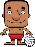 Cartoon Smiling Beach Volleyball Player Man Stock Photography