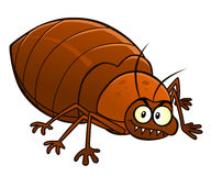 Cartoon smiling bedbug Stock Photos