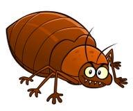 Cartoon smiling bedbug Stock Photos