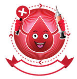 Cartoon smiling blood banner. This is Cartoon smiling blood banner.It's for illustration and advertising Stock Photography