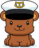 Cartoon Smiling Boat Captain Bear Stock Images
