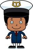 Cartoon Smiling Boat Captain Boy Stock Image
