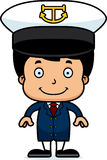 Cartoon Smiling Boat Captain Boy Royalty Free Stock Image