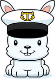Cartoon Smiling Boat Captain Bunny Royalty Free Stock Photos