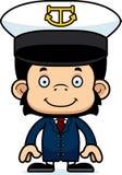 Cartoon Smiling Boat Captain Chimpanzee Royalty Free Stock Photos