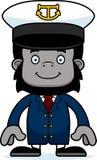 Cartoon Smiling Boat Captain Gorilla Stock Photography