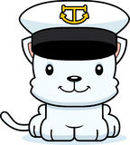 Cartoon Smiling Boat Captain Kitten Royalty Free Stock Photos