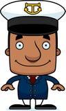 Cartoon Smiling Boat Captain Man Royalty Free Stock Photo