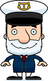 Cartoon Smiling Boat Captain Man Royalty Free Stock Image