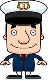 Cartoon Smiling Boat Captain Man Stock Photos