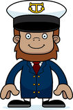Cartoon Smiling Boat Captain Sasquatch Royalty Free Stock Photo