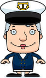 Cartoon Smiling Boat Captain Woman Stock Images