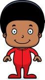 Cartoon Smiling Boy In Pajamas Stock Photos