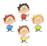 Cartoon smiling boy vector illustration eps10 Stock Photos