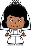 Cartoon Smiling Bride Girl Stock Photo