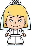 Cartoon Smiling Bride Girl Stock Photos
