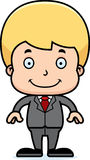 Cartoon Smiling Businessperson Boy Stock Image