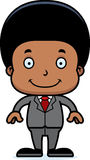 Cartoon Smiling Businessperson Boy Royalty Free Stock Photos