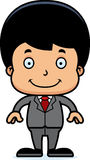 Cartoon Smiling Businessperson Boy Royalty Free Stock Photo