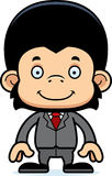 Cartoon Smiling Businessperson Chimpanzee Royalty Free Stock Image