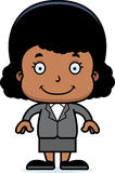 Cartoon Smiling Businessperson Girl Royalty Free Stock Photos