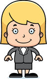 Cartoon Smiling Businessperson Girl Stock Photography
