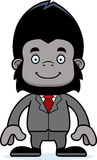Cartoon Smiling Businessperson Gorilla Royalty Free Stock Photography