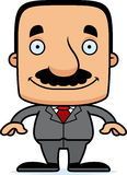 Cartoon Smiling Businessperson Man Stock Images