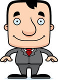 Cartoon Smiling Businessperson Man Stock Photography