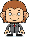 Cartoon Smiling Businessperson Monkey Royalty Free Stock Photo