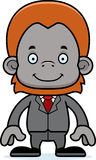 Cartoon Smiling Businessperson Orangutan Stock Photo