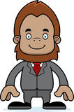 Cartoon Smiling Businessperson Sasquatch Stock Photos