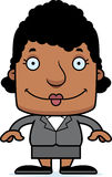 Cartoon Smiling Businessperson Woman Stock Images