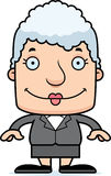Cartoon Smiling Businessperson Woman Stock Photo