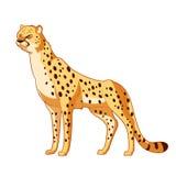 Cartoon smiling Cheetah Stock Photo