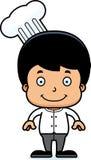 Cartoon Smiling Chef Boy. A cartoon chef boy smiling Royalty Free Stock Photos