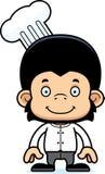 Cartoon Smiling Chef Chimpanzee Royalty Free Stock Image