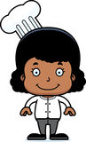 Cartoon Smiling Chef Girl Stock Images