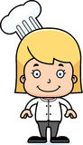 Cartoon Smiling Chef Girl. A cartoon chef girl smiling Royalty Free Illustration