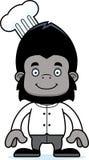 Cartoon Smiling Chef Gorilla Stock Photo