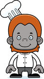 Cartoon Smiling Chef Orangutan Stock Images