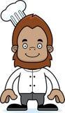 Cartoon Smiling Chef Sasquatch Royalty Free Stock Photography