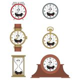 Cartoon smiling clock face smiles 010 Royalty Free Stock Photo