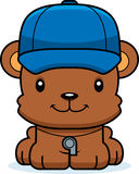 Cartoon Smiling Coach Bear Royalty Free Stock Photos