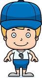 Cartoon Smiling Coach Boy Royalty Free Stock Photo