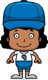 Cartoon Smiling Coach Girl Royalty Free Stock Photo