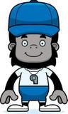 Cartoon Smiling Coach Gorilla Stock Image