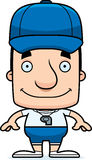 Cartoon Smiling Coach Man Royalty Free Stock Image