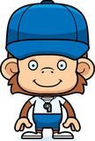Cartoon Smiling Coach Monkey Royalty Free Stock Images